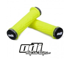 Gripy- ODI Grips Troy Lee Designs Signature ATV Lock-on Bonus pack Yellow w/Gray Clamps