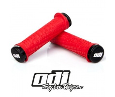 Gripy- ODI Grips Troy Lee Designs Signature ATV Lock-on Bonus pack Red w/black White w/Red Clamps